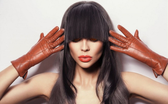 Accent gloves woman